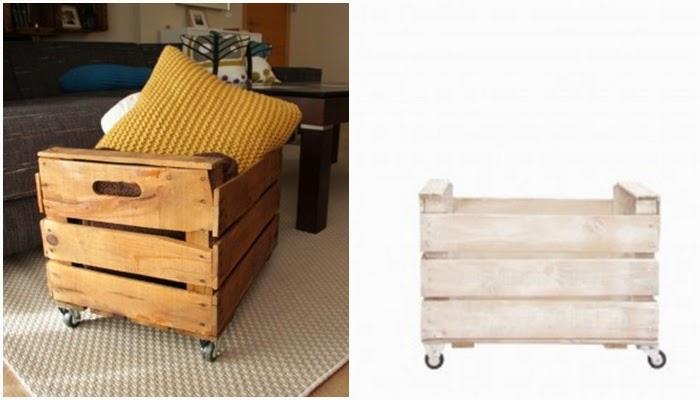 Ecodeco cajas de madera el rinc n de anatxu - Caja madera con ruedas ...