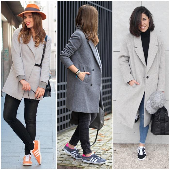 adidas gazelle_street style_blue adidas_gazelle_grey coat_macarena gea_ romalos blog