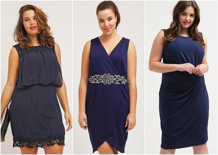 Vestidos Azul Marino Tallas Grandes