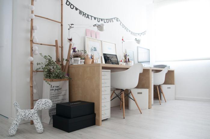 Deco estudio oficina el rinc n de anatxu - Despacho en casa ikea ...